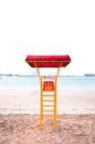 Lifeguard Station. At Corniche beach, Abu Dhabi royalty free stock photos