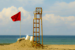 Lifeguard station in Costa Rica Stock Photography