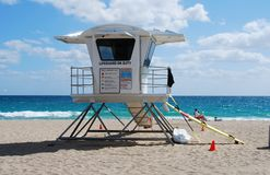 Lifeguard station on a Florida beach Stock Photos
