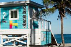 Lifeguard station, Hallandale Beach, FL Royalty Free Stock Image