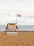 Lifeguard Station Hut on Beach Stock Image