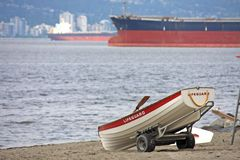 Lifeguard station, on Jericho Beach, Vancouver. Canada stock photography