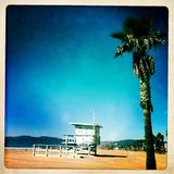 Lifeguard station Los Angeles. Lifeguard station on the beach of Los Angeles royalty free stock images