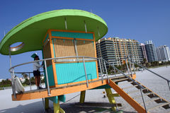 Lifeguard station, Miami beach Royalty Free Stock Photos