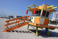 Lifeguard station, Miami beach Stock Photo