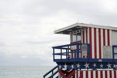 Lifeguard station, Miami beach Royalty Free Stock Image