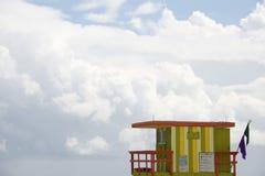 Lifeguard station, Miami beach Stock Photos