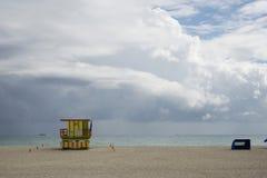 Lifeguard station, Miami beach Stock Image