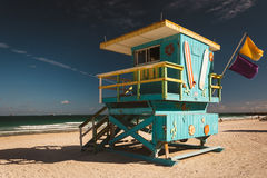 Lifeguard station in Miami Beach, Florida. Royalty Free Stock Photos
