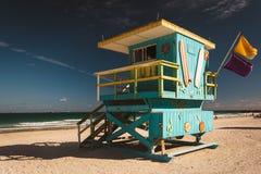 Lifeguard station in Miami Beach, Florida. Lifeguard station in Miami Beach, Florida royalty free stock photos