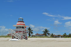 Lifeguard station, Miami Beach, Florida Royalty Free Stock Images