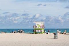 Lifeguard station Miami Beach Stock Image