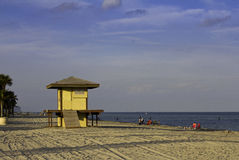 Lifeguard station at sea Royalty Free Stock Image