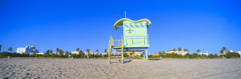 Lifeguard Station at South Beach Royalty Free Stock Photo