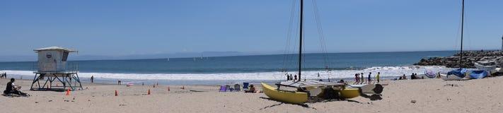 Santa Cruz Twin Lakes State Beach Panaroma stock photos