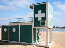 Lifeguard station. Lifeguard tower on the beach of Fuerteventura Royalty Free Stock Photography