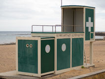 Lifeguard station. Lifeguard tower on the beach of Fuerteventura Royalty Free Stock Image