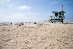 Lifeguard Station in Venice Beach California Royalty Free Stock Image