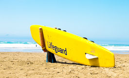 Lifeguard surfboard Stock Photo