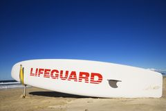 Lifeguard surfboard. Royalty Free Stock Images