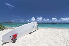 Lifeguard Surfboard in Hawaii Royalty Free Stock Photos