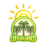 Lifeguard symbol Stock Photo