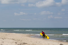 Lifeguard at Tisvilde beach, Denmark Royalty Free Stock Images