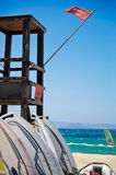 Lifeguard Tower. On a Surfers Beach Royalty Free Stock Photography