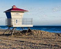 Lifeguard Tower. Scenic landscape image of Huntington Beach City Beach lifegaurd tower #1 Stock Photos