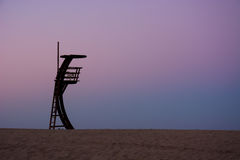 Lifeguard tower. An alone lifeguard tower in an empty beach Stock Photography