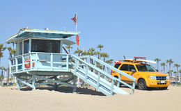 Lifeguard Tower At Santa Monica Stock Photos