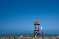 Lifeguard tower on beach Stock Photography