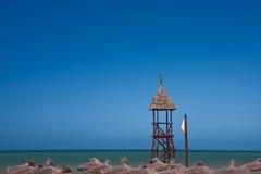 Lifeguard tower on beach Stock Photography