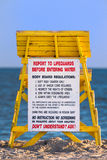 Lifeguard tower at a beach Royalty Free Stock Photos
