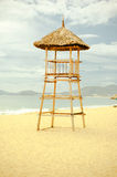 Lifeguard tower on the beach Stock Photos