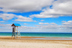 Lifeguard tower on a beach Royalty Free Stock Photos