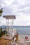 Lifeguard tower. On the beach Stock Image