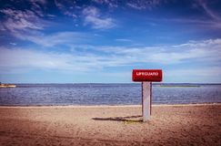 Lifeguard tower on the beach Stock Photography