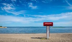 Lifeguard tower on the beach Stock Photos