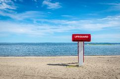 Lifeguard tower on the beach Stock Images