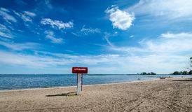 Lifeguard tower on the beach Royalty Free Stock Image