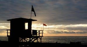Lifeguard tower on the beach of Batumi Royalty Free Stock Photo