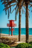 Lifeguard tower on the beach Royalty Free Stock Images