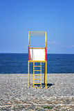 Lifeguard tower at a beach Stock Images