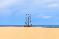 Lifeguard Tower at the Beach in Boavista, Cape Verde, Cabo Verde. Lifeguard Tower at the Beach in Boavista, Cape Verde royalty free stock photo