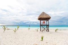 Lifeguard tower on  beach Stock Image