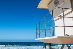 Lifeguard Tower on Beach in Encinitas, California Royalty Free Stock Image