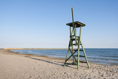 Lifeguard tower in the beach. Royalty Free Stock Photography