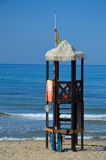 Lifeguard tower on the beach Royalty Free Stock Photography