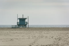 Lifeguard tower on the beach, in Venice Beach  Royalty Free Stock Photography